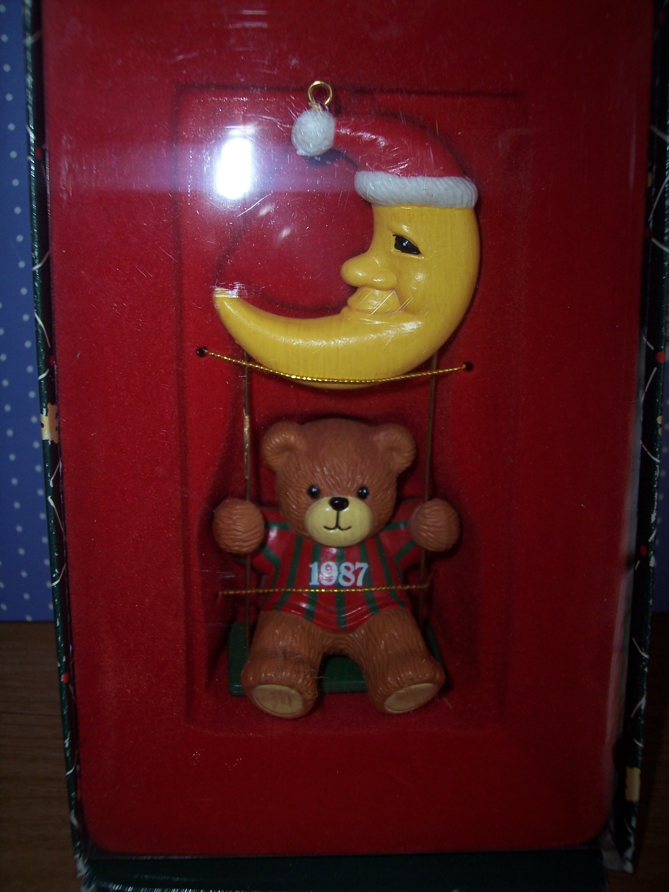 1987 Boy on Swing Ornament H4-2-1