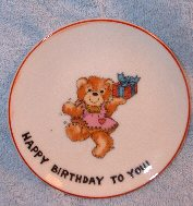 Happy Birthday to You Girl with Present mini plate 1979