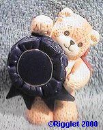 Bear with dark blue ribbon G23-4-1