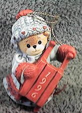 1996 bear with sled ornament ^^^box 3, 11^^^