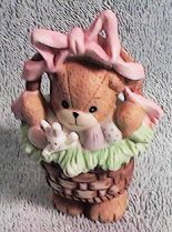 Bear standing in Easter Basket G20-1-2 ^^^& in box 5^^^
