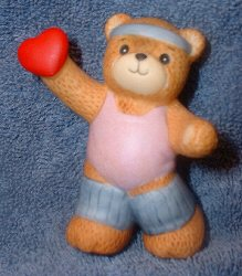 Aerobics bear with heart G5-4-4 ***