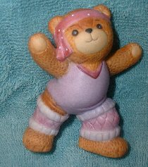 Aerobics Jazzercise Bear in Purple G6-2-2 ***