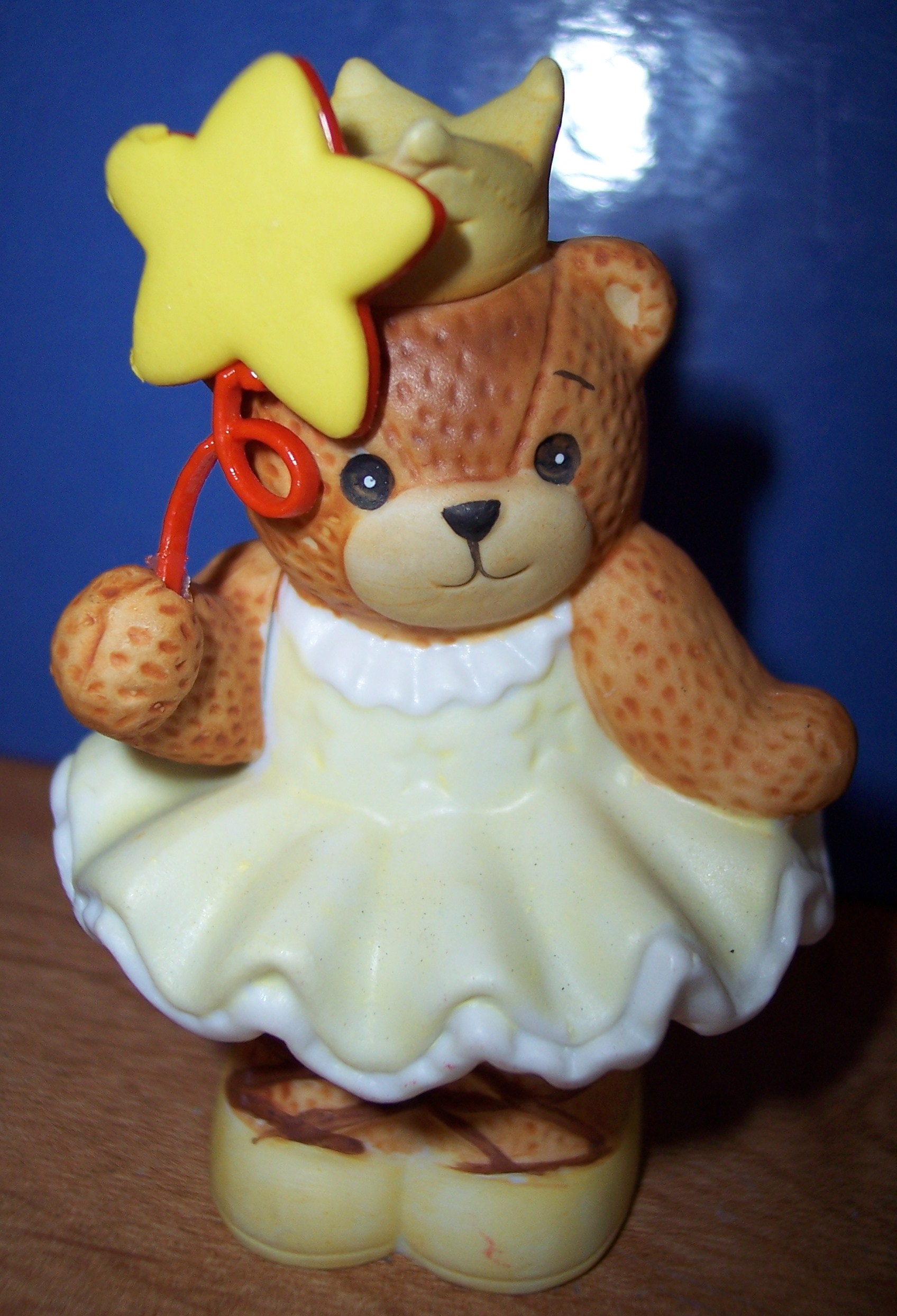 Altered bear ballerina bear w/star