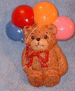 Bear with balloons plaque