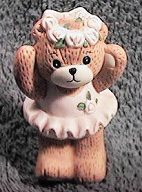 Ballerina Girl bear arms up G16-2-4 & ^^^box 7^^^