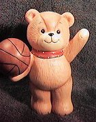 Lucy and Me Bear with basketball bank