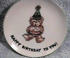Happy Birthday to You Mini plate