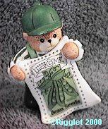 Boy bear with bean seeds packet G32-3-2 ^^^in box 6^^^