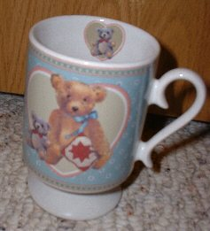 Bear with Quilt Square Non Lucybear mug - Click Image to Close
