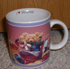 I Love Shopping Non Lucybear mug