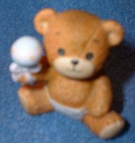 Baby bear holding rattle G3-4-3 ^^^& box 7^^^