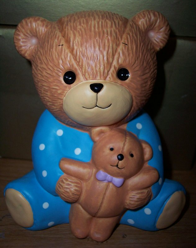 Bear with teddy bank - Click Image to Close