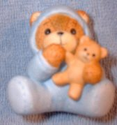Baby boy bear in blue with teddy G8-1-3 ***