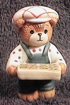 Boy bear with seed tray G17-4-6 and box 11