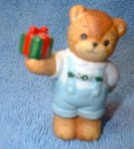 Boy bear with present C6-3-2