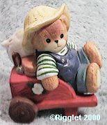 Boy bear in wheelbarrow G28-4-5 Box 11