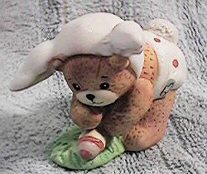 Easter Baby Bunny bear bending down G20-2-5