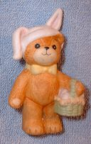 Bunny bear with Easter basket G4-1-4 ***