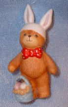 Bear in bunny ears with basket at feet G1-3-6 +