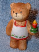 Christmas bear with candle C1-1-1