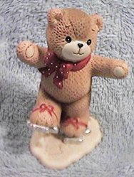 Bear with cookie cutter ice skates C4-2-6