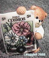 Bear with Cosmos Seed Packet G30-4-2 ^^^in box 6^^^