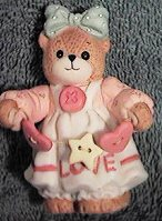 Country Doll Bear with string of buttons G34-2-2 ^^^box 6^^^
