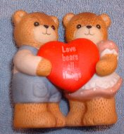 Love Bears All Things Couple with Heart G7-2-4 *** MIB