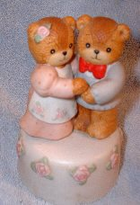Enesco Bear Couple Musical ***