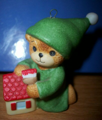 Elf bear painting house ornament H3-1-2