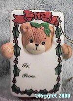 Bear as gift tag ornament C11-1-1 ^^^ box 9^^^