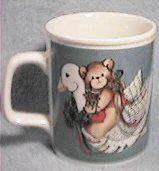 Bear with heart on goose mug U1-2-6