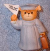 Blue grad with briefcase from Teddy Bear University G12-2-1 ***
