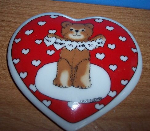 AS IS This Bears My Love to You trinket box LID only