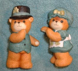 Large Irish Bear Couple G7-3-1 and G7-3-2 ***