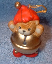 Bear as jingle bell ornament H5-2-4 & ^^^box 10^^^