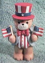 July American bear with two flags G8-2-5