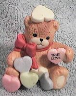 Valentine bear covered in conversation hearts G24-2-4 ^^^&box5