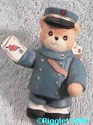 Mail carrier postal worker mailman bear G19-4-8 ^^^& box 7^^^