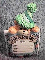 It's A Party bear invitation G32-4-1 ^^^& in box 7^^^