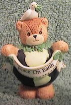 Peace on Earth Globe Bear C9-1-6 and box 9