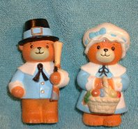 Pilgrim Plastic Salt and Pepper Shakers