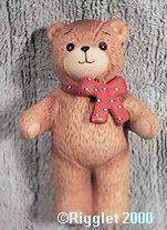 Red bow bear standing both arms out G1-1-1 ***
