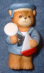 Sailor boy bear with sailboat and lollipop G5-2-2 and box 9