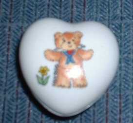 Sailor bear heart shaped trinket box