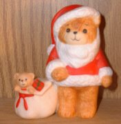 Santa with bag of toys candleholder C1-4-2