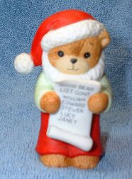 Santa bear reading naughty and nice list C3-4-4 ***