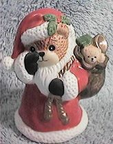 Santa bear with finger at nose C5-4-7 ^^^& box 3^^^