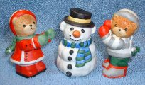 3 pieces bears making snowman C7-2-1,2,3